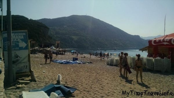 Вот такой пляж был до самого обеда