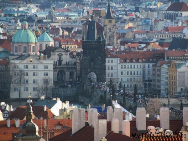 Вид из башни Карлового моста