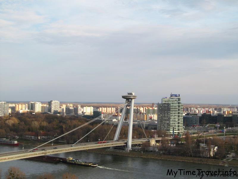 Дунай и мост в Братиславе
