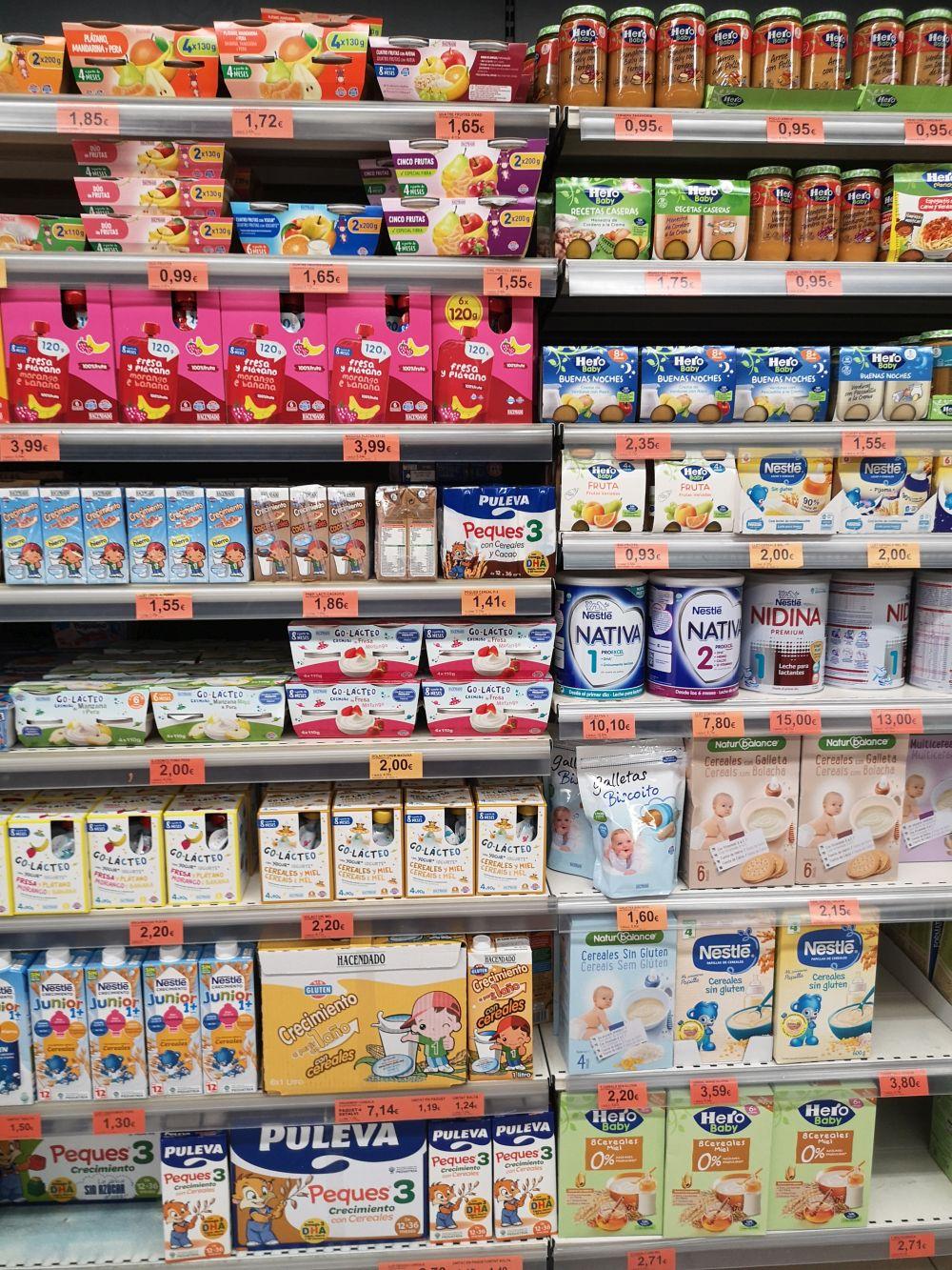 Детское питание в Испании