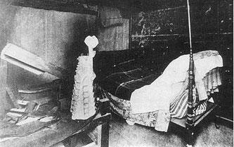Кровать в мастерской Гауди при Саграда Фамили