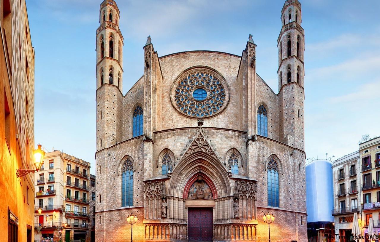 Церковь Санта-Мария-дель-Мар в Барселоне