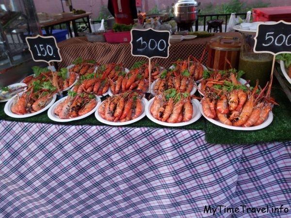 Креветки в  Таиланде