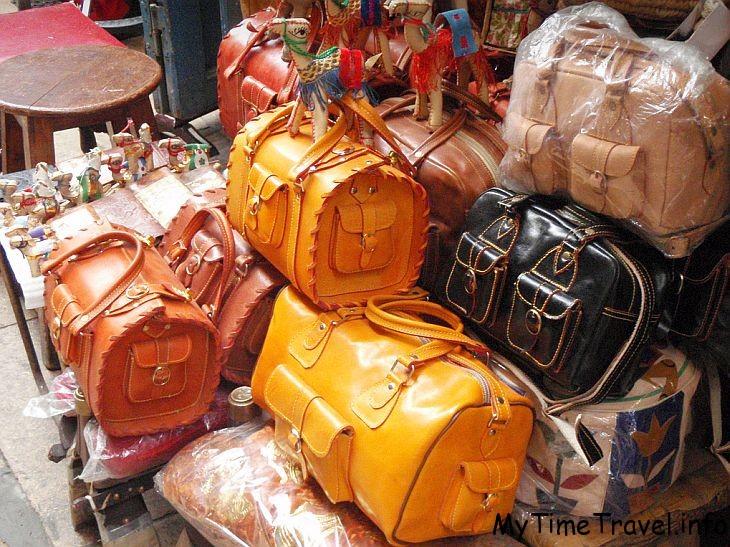 Кожаные сумки из Египта