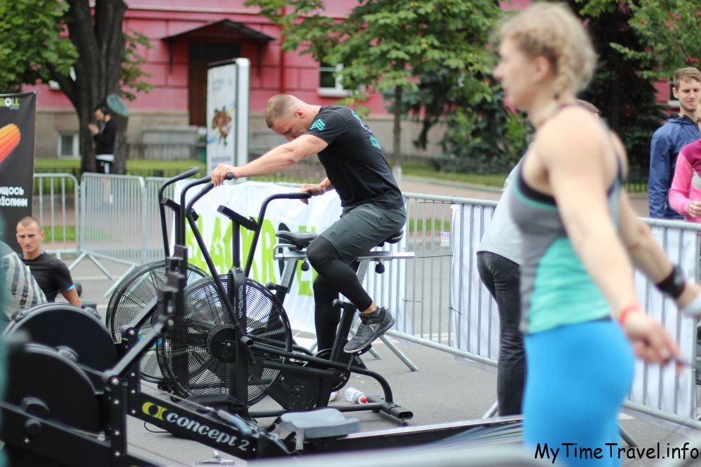 Разминка на велобайке