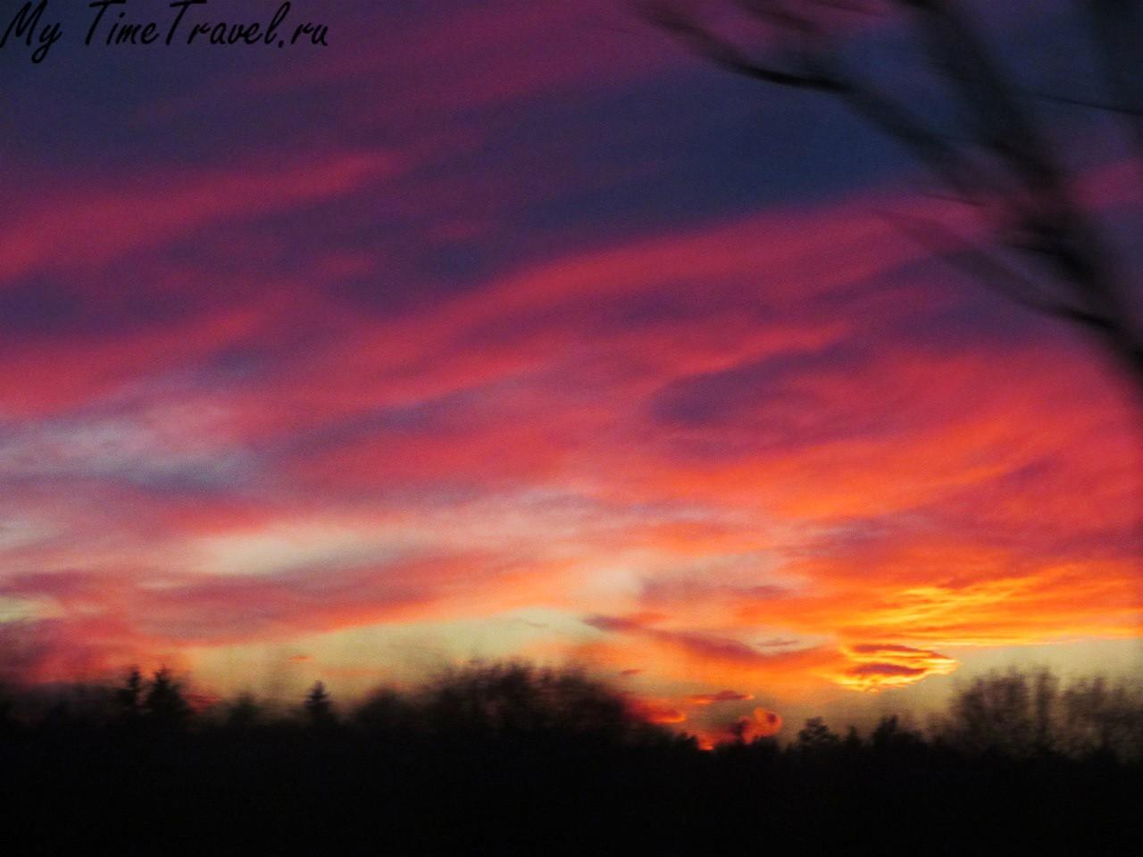 Вечернее польское небо
