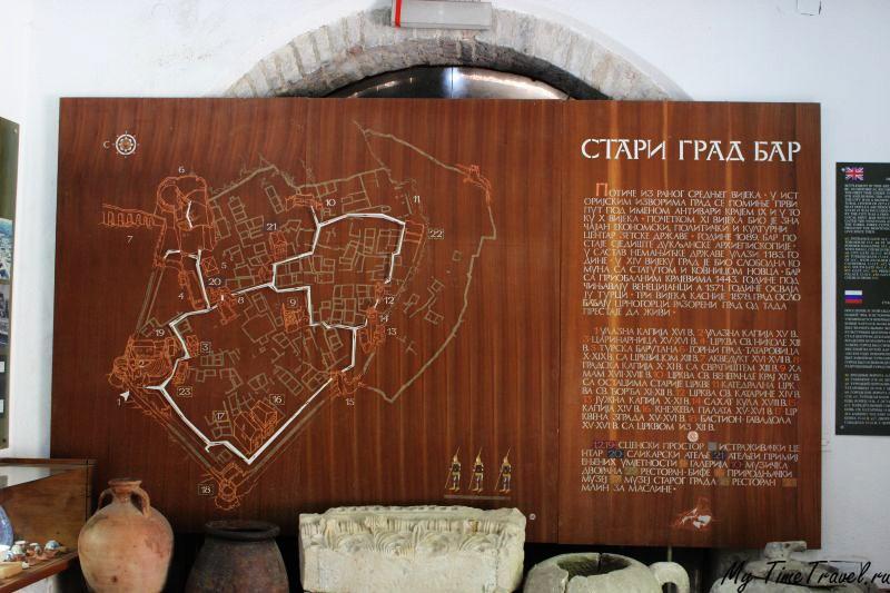 Старый Бар . Карта