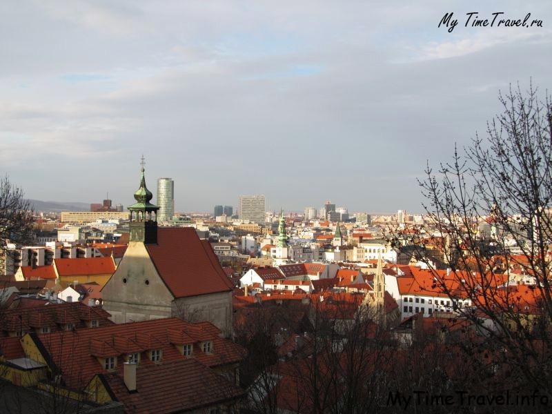 Вид на город Братиславу